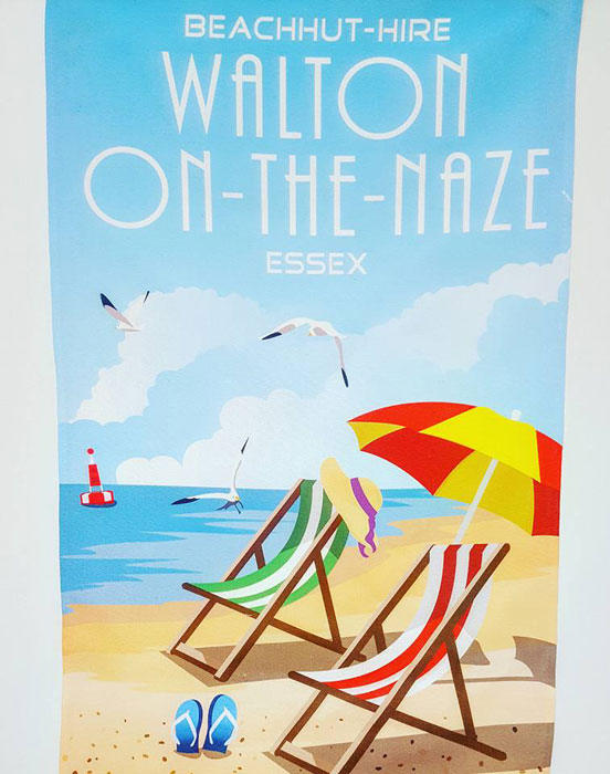 Deck Chair Tea Towel