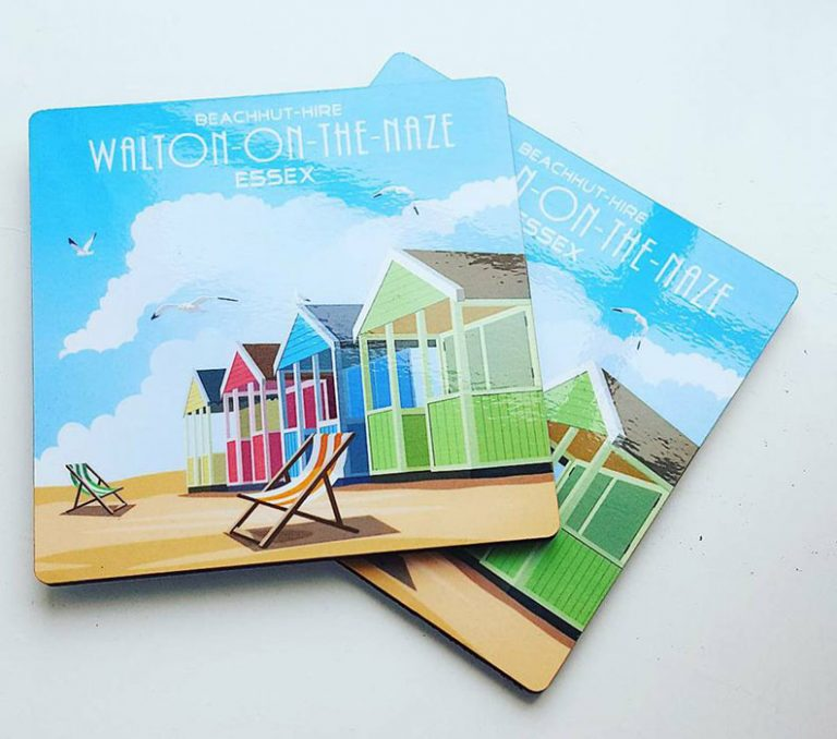 Beach Hut Coasters